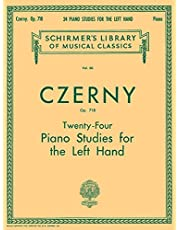 24 Studies for the Left Hand, Op. 718: Schirmer Library of Classics Volume 60 Piano Technique