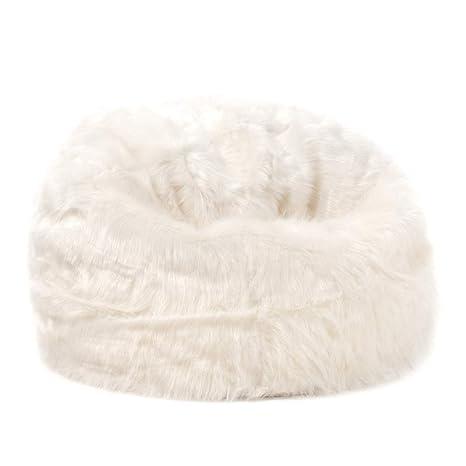 Brilliant Icon Large Childrens Classic Faux Fur Bean Bags Cream 64Cm X 70Cm Furry Kids Bean Bag Chair Creativecarmelina Interior Chair Design Creativecarmelinacom