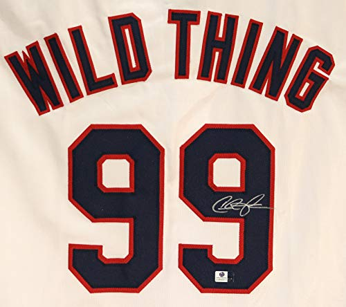 Charlie Sheen Cleveland Indians Signed Autographed White Ricky Vaughn Wild Thing #99 Custom Jersey COA