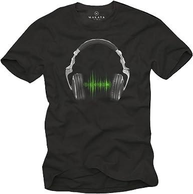 Camiseta Musica Hip Hop - Auriculares Hombre: Amazon.es: Ropa y accesorios