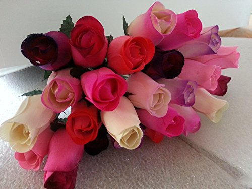 2 Dozen Wooden Roses Mixture of 8 Colors-Little Chicago Distributing by Little Chicago Distributing-Forever Wood Roses (Image #3)