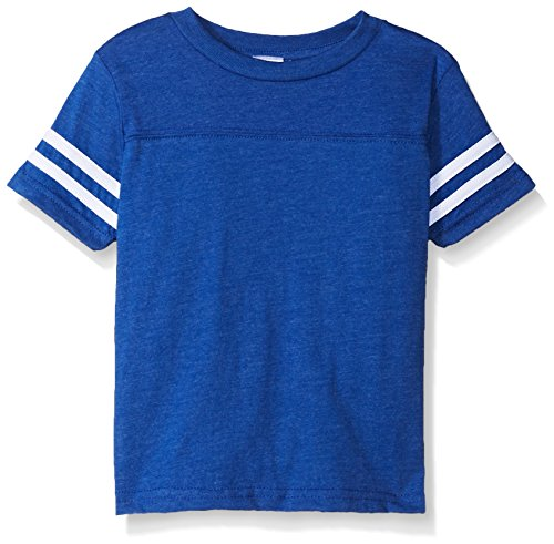 Clementine Kids Toddler Football Fine Jersey T-Shirt, VN Royal/BD WHT, 5/6 -