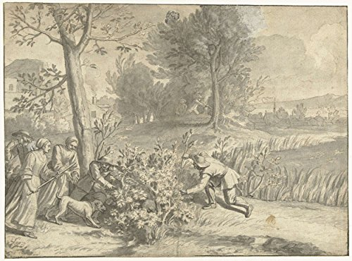 Classic Art Poster - Rabbit and duck hunting, Jacques Stella, 1596 - 1653