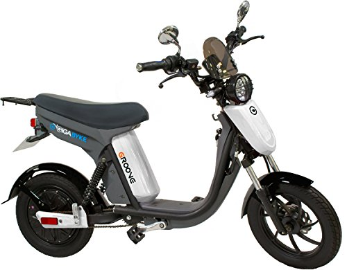 GigaByke Groove 750 Watt Motorized E-Bike - Street Legal Electric Moped with Pedals