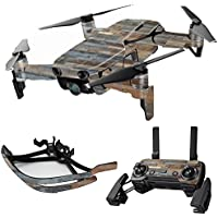 MightySkins Skin for DJI Mavic Air Drone - Gray Wood | Max Combo Protective, Durable, and Unique Vinyl Decal wrap cover | Easy To Apply, Remove, and Change Styles | Made in the USA