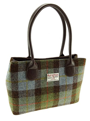 Harris Tweed LB1003 COL28 - Borsa da donna, colore: verde a quadri