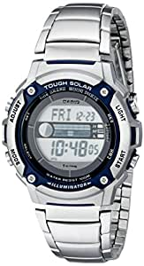 Casio Men's WS210HD-1AVCF Tough Solar Powered Tide and Moon Stainless Steel Watch
