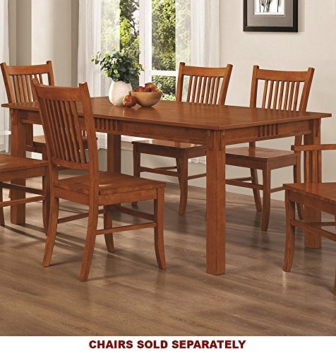 Coaster 100621 Mission Style Dining Table, Burnished Oak Sol