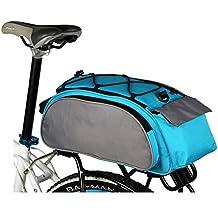 Baiyu Multi Function Bike Bicycle Rack Bag Seat Cargo Bag Rear Pack Trunk Pannier Handbag Shoulder Bags Bike Pouch Back Seat Packs Rear Rack Tail Packets 13L (Blue)