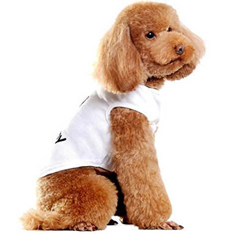 Ranphy Small Dog Puppy Shirt for Female Male I Love My Mommy Dog Vest Heart Shape T-shirt Summer Vest White - Shapes Face Male