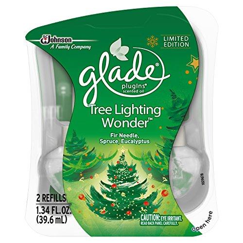 Glade PlugIns Scented Oil Air Freshener Refill, Tree Lighting Wonder, 2 Refills, 1.34 fl oz
