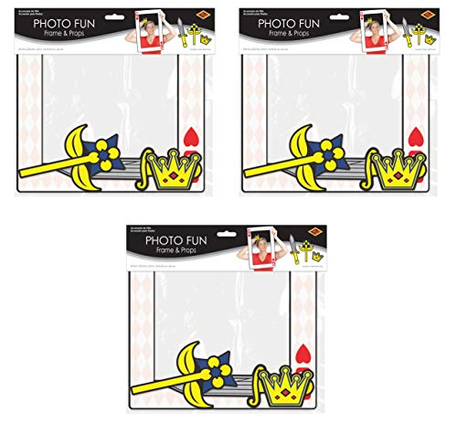 - Beistle 54815 Playing Card Photo Fun Frames 3 Piece, 15.5