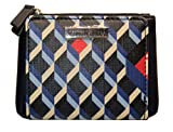 Tommy Hilfiger Stripe Wallet Navy Blue Bi Fold Faux Leather