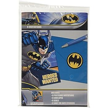 DesignWare Batman Invitation Multicolor