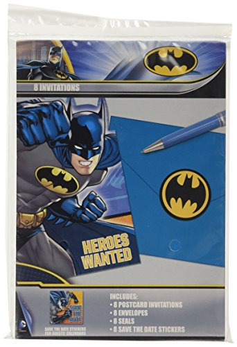 Batman Postcard Invitations, Party Favor -