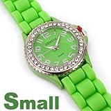 Geneva Small Face Green Jelly Watch