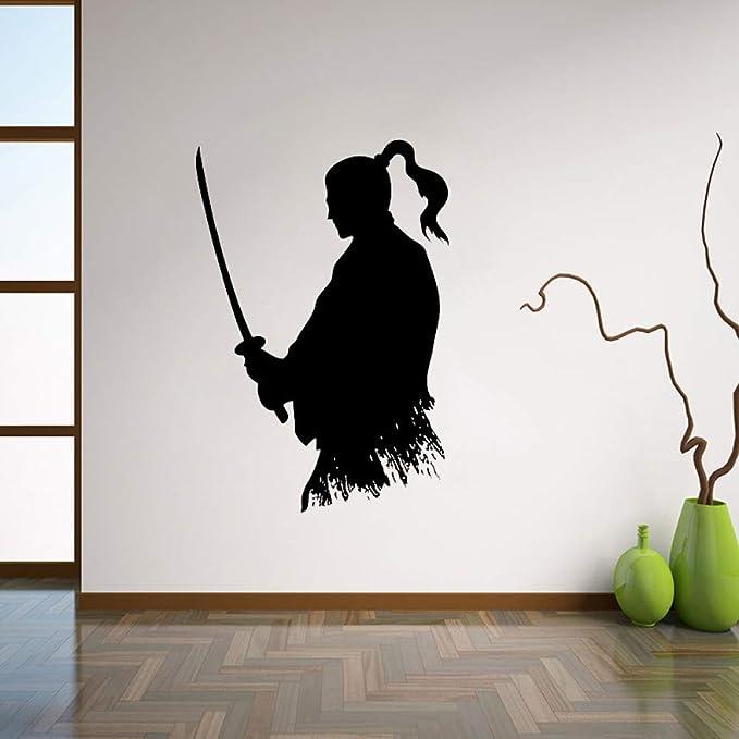 Zaosan Decoración de Pared Ninja Vinyl Sticker Estilo japonés Decoración para el hogar Sala de Estar Creativa Interior Wall Art 56x82cm: Amazon.es: Hogar
