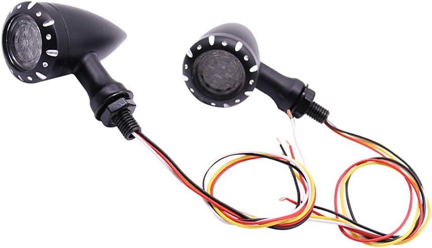 indicatori di direzione per Moto Cruiser Fastpro Moto Personalizzate. Chopper Adatti per la Maggior Parte delle Moto Harley