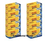 Photo : Kodak 10 Rolls GC 135-24 Max 400 Color Print 35mm Film ISO 400 (Pack of 10)