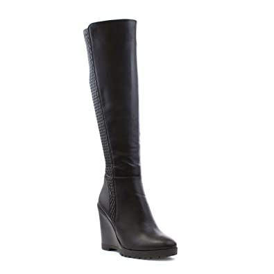 bc7bd93ac2f Lilley Womens Black Elasticated Back Wedge Boot - Size 8 UK - Black ...