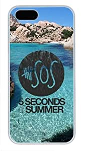 iCustomonline Case for iPhone 5S PC, 5 seconds of summer 5sos Printed Case for iPhone 5S PC White