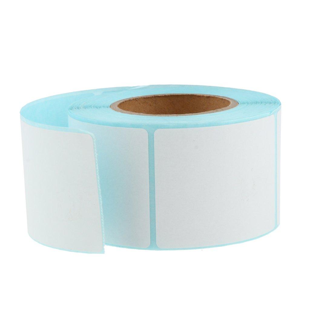 D DOLITY 1 Rolle Thermotransferpapier Etiketten auf Rolle für Thermotransfer Desktopdrucker Weiß Thermotransfer-Etikett Hohe Qualität Klebeetiketten - Weiß 30 x 55 mm