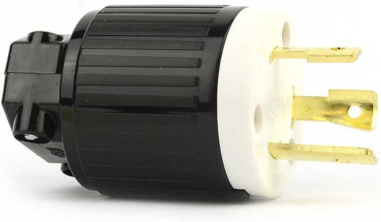 NEMA L6-30P Replacement plug YGA017 Twist Lock Electrical Plug 3 Wire