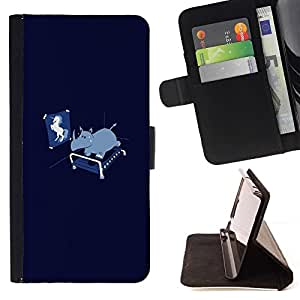 Momo Phone Case / Flip Funda de Cuero Case Cover - Funny Unicorn Rhino - LG Nexus 5 D820 D821