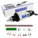 MAXMAN Rotary Tool Kit 200W Variable Speed Multi-Functional Electric Drill Grinder For Crafting Projects And DIY Creations 3-Jaw Chuck 0.6-6.5mm
