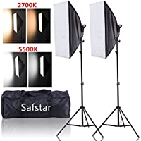 Safstar Photography Softbox LED Continuous Lighting Kit for Photo Video Studio 20x27 (Color Changeable)