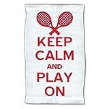 4WoodenShoes Keep Calm Tennis Towel