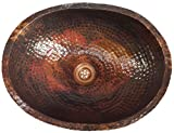 Egypt gift shops Oval Lacqured Copper Bath Kitchen Sink Home Decor Hammered Basin