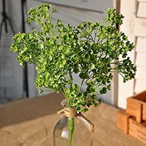 Newborn - Diy Artificial Baby 39 S Breath Flower Green Leaf Succulent Plants Gypsophila Fake Flores - Dried Flowers Artificial Artificial Dried Flowers Flower Bouquet Muslin Life Fake Leave 45