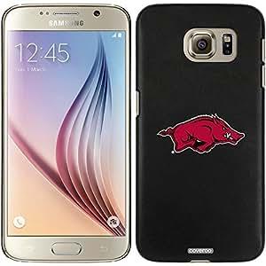 Coveroo Samsung Galaxy S6 Black Thinshield Case with Arkansas Razorback Design