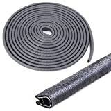 u rubber edging - Swpeet 16Ft (5M) U Shape Universal Rubber Seal Protector Guard Strip, Car Door Edge Guards For Most Cars Metal Edges - Virtually Invisible, Durable and Cleanly Removable Design