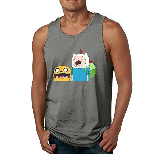 [Adventure Time Jake & Finn POY-SAIN Men's Adults Tank Top Sleeveless SizeS DeepHeather] (The Sims 3 Costume Chest)