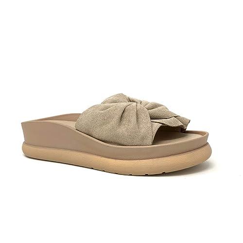 sur les images de pieds de bonne réputation qualité incroyable Angkorly - Chaussure Mode Mule Tong Claquette de Plage ...