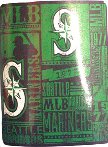 MLB Officially Licensed Established Fleece Throw Blanket (Seattle Mariners)