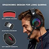 Nivava Gaming Headset for PS4, Xbox One, PC