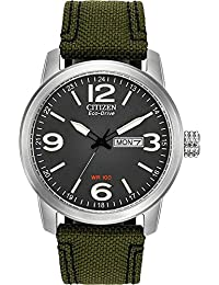 Citizen Men's BM8470-11E Sport Wrist Watch with Green Band and Black Dial