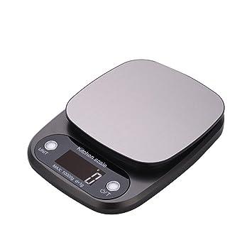 Báscula de cocina digital Báscula de cocina electrónica portátil de cocina Hanmir con pantalla LCD de acero inoxidable Gram exacto para el hogar Barking ...