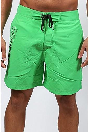 Short de Bain Homme Vert Fluo RIVALDI: : Vêtements
