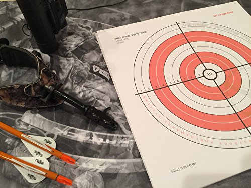 Heavyweight Targets for Archery and Marksmanship. Great for Practice Indoors, at The Range or in The Back Yard. Perfect Strike Orange OPS Targets. Variety Pack. (12 Targets)