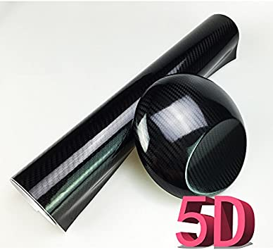 Carbon Fiber Car Wrap Roll Stikers Vinyl High Gloss Decal Paper Film Wood Brown