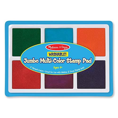 Ink Washable - Melissa & Doug Jumbo Multi-Colored Stamp Pad With 6 Washable Inks