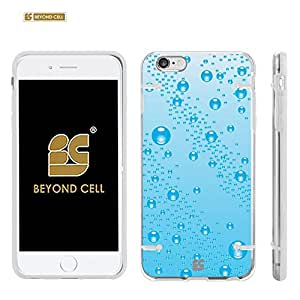 """Iphone 6 4.7"""" (T-mobile,AT&T,Verizon,Sprint,International)Beyond Cell ?Aquaflex? Series Premium Protection [Ultra Slim] Design Transparent Clear Hard Hybrid Case With Protective Bumper Around - Blue Raindrops Design - Retail Packaging"""