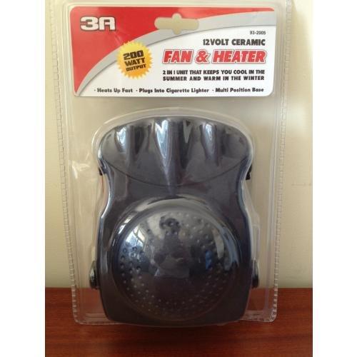 3A 12V/200Watts Ceramic Heater and Fan (PKC0H1)