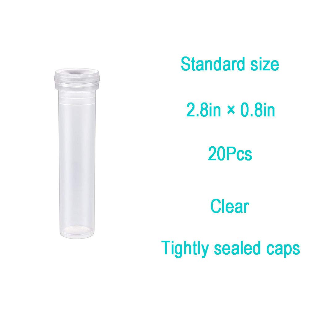 Floral Water Tubes Vials for Flower Arrangement Decoration Floral Supplies Clear 3Sizes 20//Pack 4.3inches