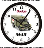 DODGE M43 MILITARY AMBULANCE WALL CLOCK-Free USA Ship-Choose 1 of 2