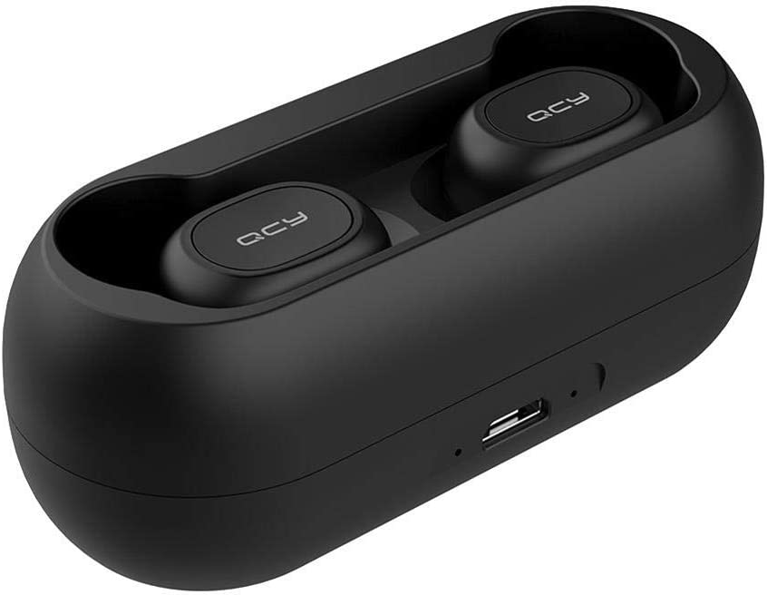 YouN QCY T1C TWS Mini Auriculares inalámbricos Bluetooth HiFi con Doble micrófono